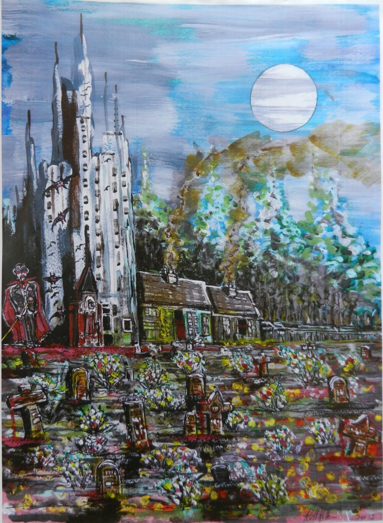 Draculars Graveyard. Mixed media. 2013.